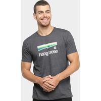 Camiseta Hang Loose Silk Colorbow Masculina - Masculino-Cinza+Preto