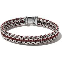 David Yurman Bracelete 'Box Chain' De Prata - Ssrd