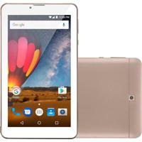 """Tablet Multilaser M7 Plus 7"""" 1Gb Quad Core Nb272 Dourado Dourado"""
