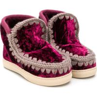 Mou Kids Slip-On Boots - Vermelho
