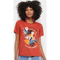Camiseta Cantão Wi-Fi Natureza Feminina - Feminino-Marrom Escuro