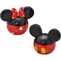 Jogo De Saleiro & Pimenteiro Mickey®- Preto & Vermelho