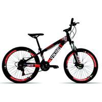 Bicicleta Aro 26 Vikingx 21V Relação Shimano Suspensão Spinner Aro Vmaxx Freio Disco - Unissex