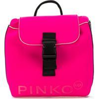 Pinko Kids Mochila Com Logo - Rosa