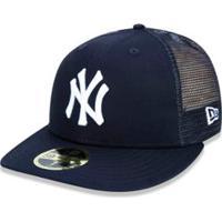 1ce051bc1c482 ... Boné 5950 New York Yankees Mlb Aba Reta New Era - Masculino-Marinho