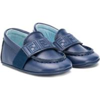 Fendi Kids Sapato Para Bebê Com Monograma Ff - Azul