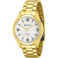 0df8e112022 Netshoes  Relógio Seculus Masculino Long Life - 28891Gpsvda2 - Masculino