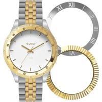 Relógio Euro Trio Glam Feminino - Feminino-Dourado