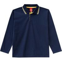 Camisa Polo Infantil Azul Marinho