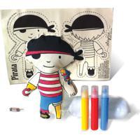 Boneca De Pano Pirata Alegria Sem Bateria Colorido