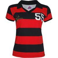 Camisa Liga Retrô Evaristo De Macedo 1955 Feminino (Ex Jogador Flamengo E Madureira) - Feminino