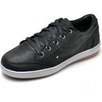 Tênis Casual Em Couro Dr Shoes Preto