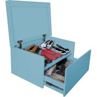 Sapateira Box Baú Caixa Organizadora Para Sapatos - Azul Laca