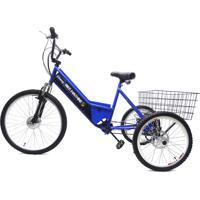 Triciclo Elétrico Machine Motors Basic 350W 36V Azul/Preto