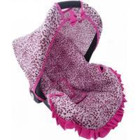 Capa Para Bebê Conforto 0 A 13 Kg Onça Alan Pierre Baby Rosa
