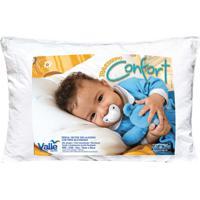 Travesseiro Confort Branco Com 1 Peças - Valle Enxovais - Kanui