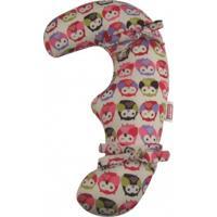 Almofada De Cinto De Segurança Bebês Feliz Coruja Avideco Rosa