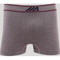 Cueca Boxer Masculina Mescla Sem Costura Ace Em Microfibra Vinho
