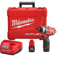 Parafusadeira Milwaukee M12 2402-259 1/4 Pol 12V Fuel 220V