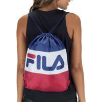 Gym Sack Fila Flag - Azul Esc/Branco