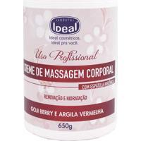Creme De Massagem Corporal Goji Berry Argila Vermelha Ideal 650G