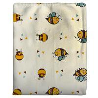 Cobertor Para Bebê Abelhinha - Amarelo