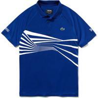 Polo Lacoste Sport Regular Fit Azul