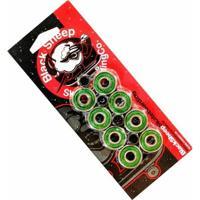 Kit Com 8 Rolamentos De Skate E 4 Espaçadores Black Sheep Abec 9 - Unissex