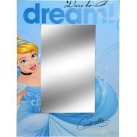 Espelho Cinderela- Espelhado & Azul- 40X30X1Cm- Mabruk