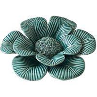 Flor De Cerâmica Verde Coleçáo Flores