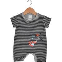 Macacão Minore Kids Curto Baby Menino Cinza