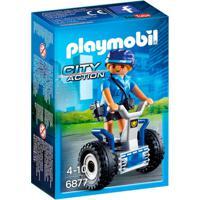Playmobil - City Action - Mini Figura Policial Com Balance-Racer - 6877 - Sunny - Masculino-Incolor