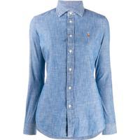 Polo Ralph Lauren Logo Embroidered Shirt - Azul