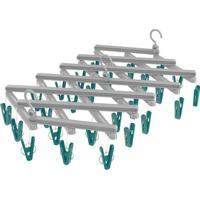 Mini Varal Extensível Com Prendedores- Verde & Cinzaeuro Homeware