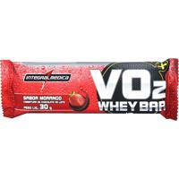 Barra Protein Bar Vo2 Intregral Médica Morango 30G