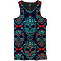 Camiseta Bsc Regata Macabre Skull Full Print - Masculino