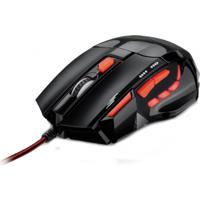 Mouse Óptico Xgamer Fire Button Usb 2400 Dpi Preto/Vermelho