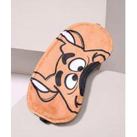 Tapa Olho Scooby-Doo Estampado Preto