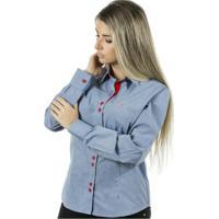 Camisa Pimenta Rosada Emmanuelle - Feminino-Jeans