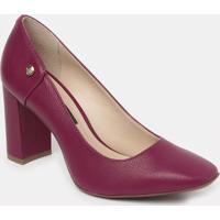 Sapato Tradicional Em Couro Texturizado - Vinho- Saljorge Bischoff