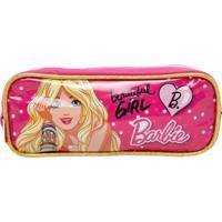 Estojo Sestini Infantil Barbie 17Z Duplo Rosa