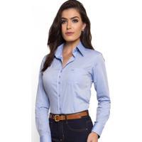 Camisa Social Com Bolso Principessa Thaiza Azul