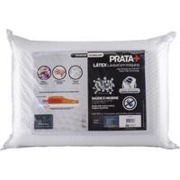 Travesseiro Prata+ Toque De Latex - Fibrasca 50 X70 Cm