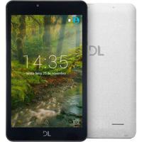 """Tablet Dl Creative 7"""" 8Gb 1Gb Ram Quad Core Tx380Bra Branco"""