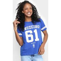 Camiseta Cruzeiro 61 Feminina - Masculino-Azul