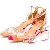 Sapato Feminino Scarpin Salto Alto Em Tiedye Com Transparência Lançamento