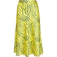 Apparis Swing Zebra Print Skirt - Amarelo