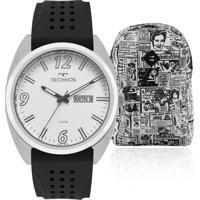 Kit Relógio Masculino Technos Com Mochila Advert Advert2305Aw