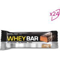 Whey Bar®- Amendoim- 24 Unidades- Probióticaprobiotica