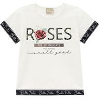 Blusa Infantil Milon Rosas Com Strass Feminina - Feminino